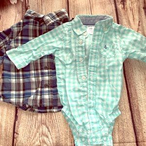 Newborn - 3 months dress shirt & dress shirt suit